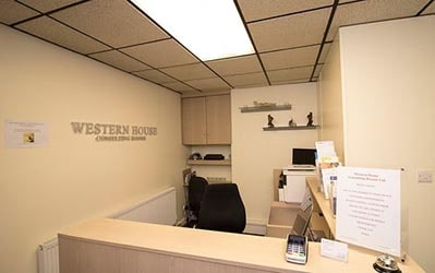 Western House Consulting Rooms Reception Desk